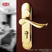 美国多灵 门锁 健康纯铜室内房门锁 PVD金色木门锁 执手锁具